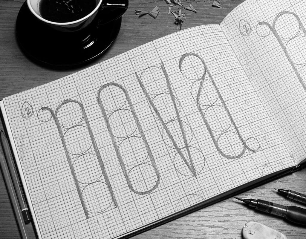 Diseño de tipografía modular BabaSkyline