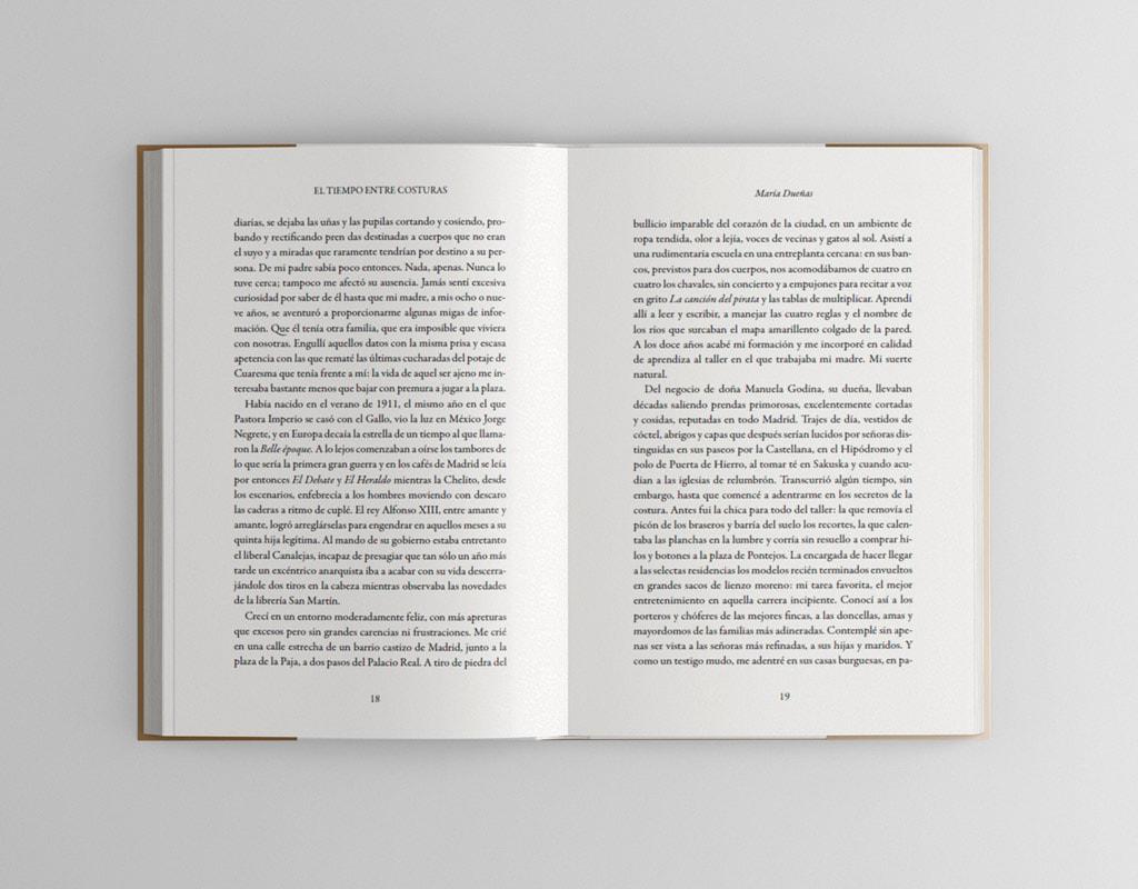 """Propuesta de diseño para el cover del libro de María Dueñas """"El tiempo entre costuras"""""""