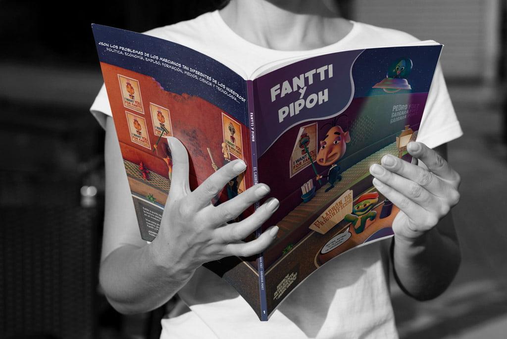 Publicación digital del cómic en 3D Fantti y Pipoh