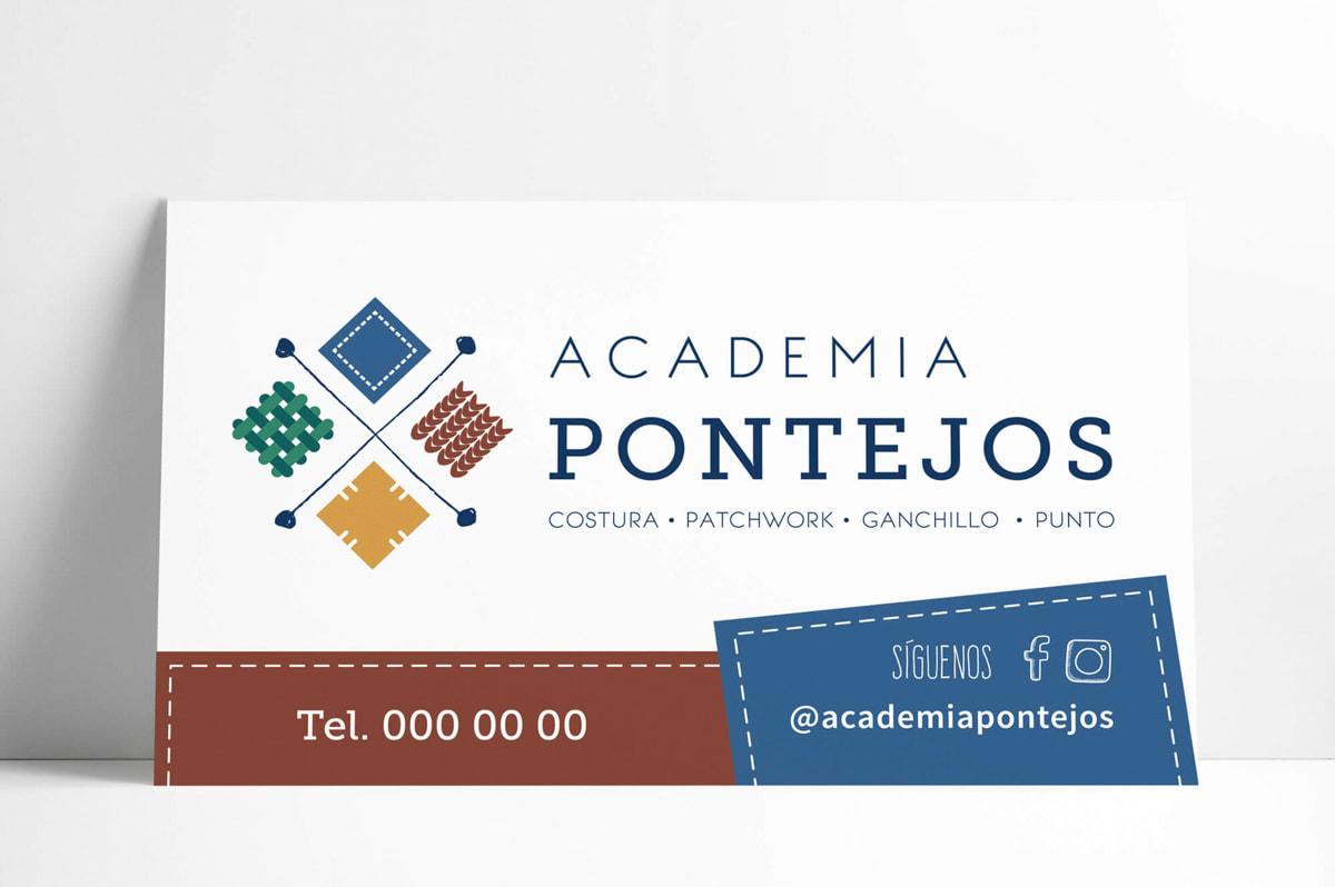 Diseño de cartelería para Academia Pontejos
