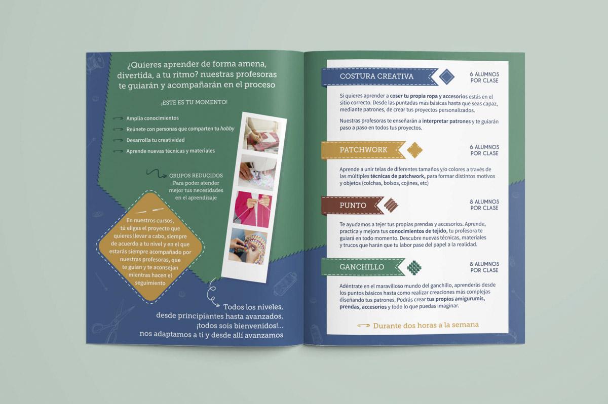 Diseño de folletos publicitarios para Academia Pontejos