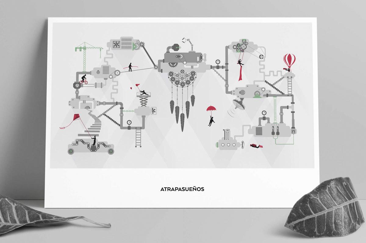 Diseño de cartelería para estudio de Branding y Web