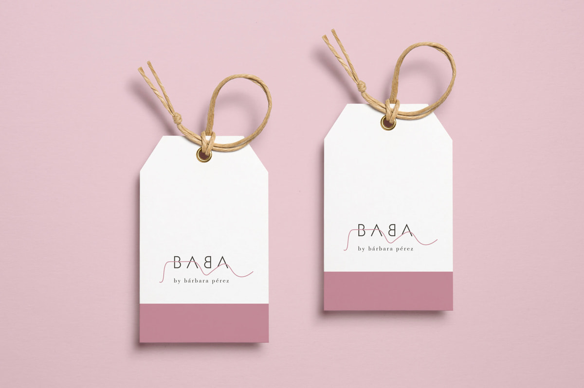Diseño de etiquetas para marca de ropa