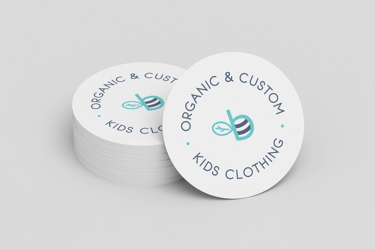 Branding para Bombluebee - Organic & Custom Kids Clothing