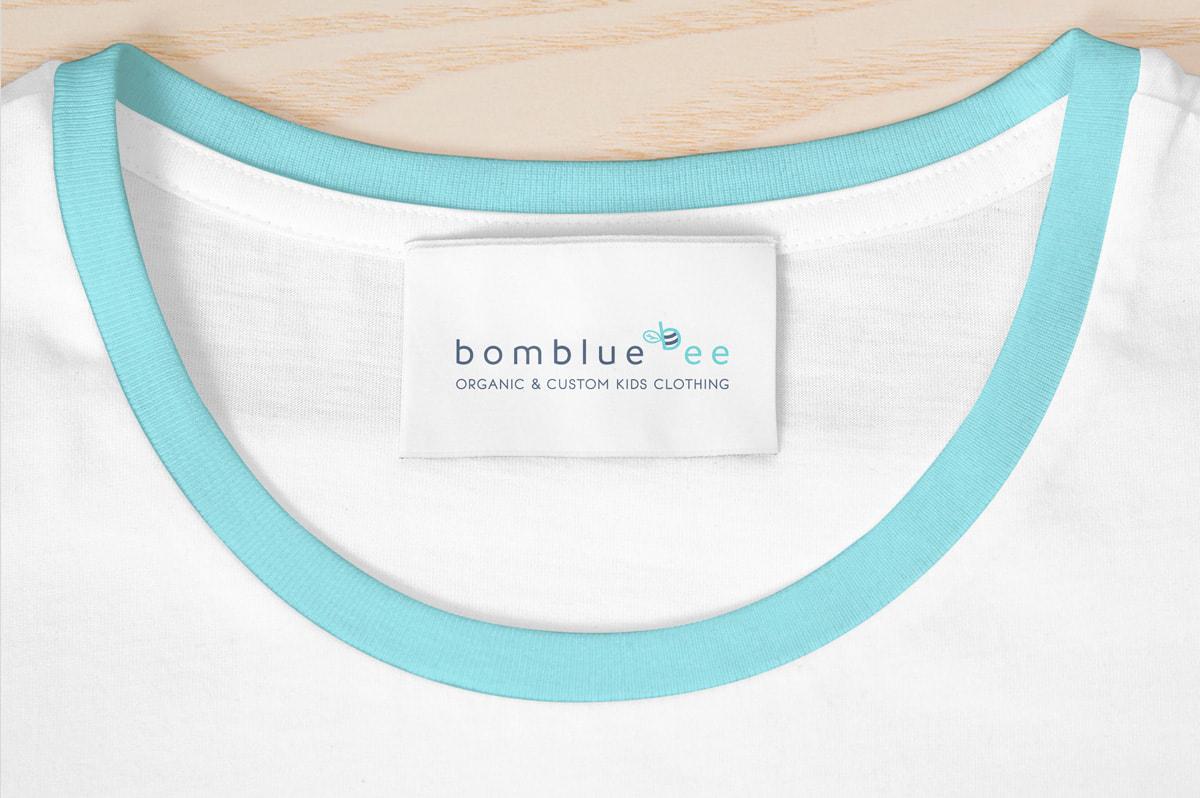 Diseño de etiquetas para la marca de ropa Bombluebee