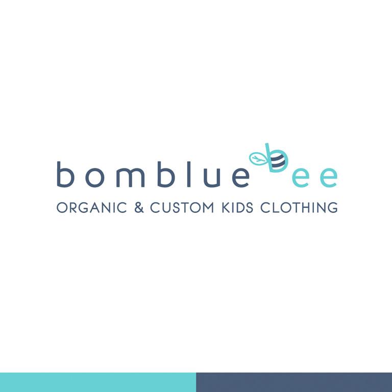 Diseño de logotipo para la marca de ropa Bombluebee