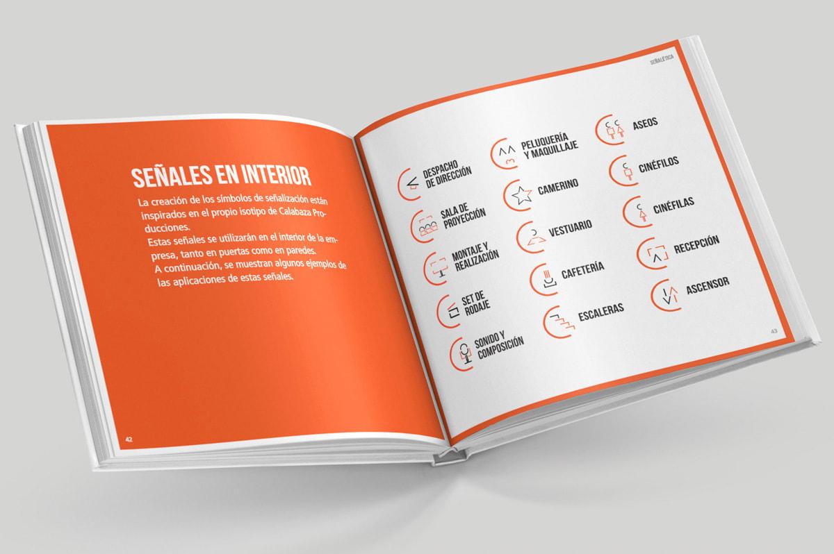 Diseño de manual de marca para Calabaza Producciones