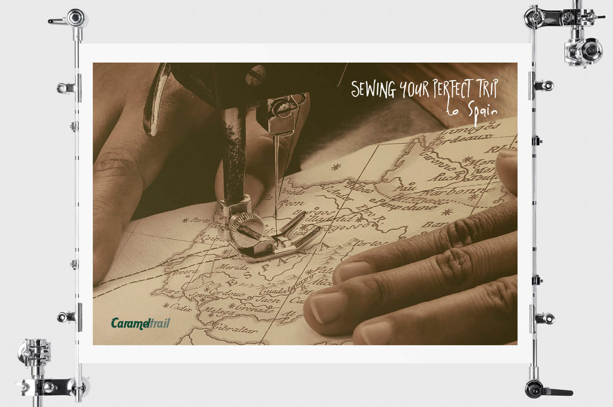 Diseño de cartelería para la Agencia de viajes Carameltrail