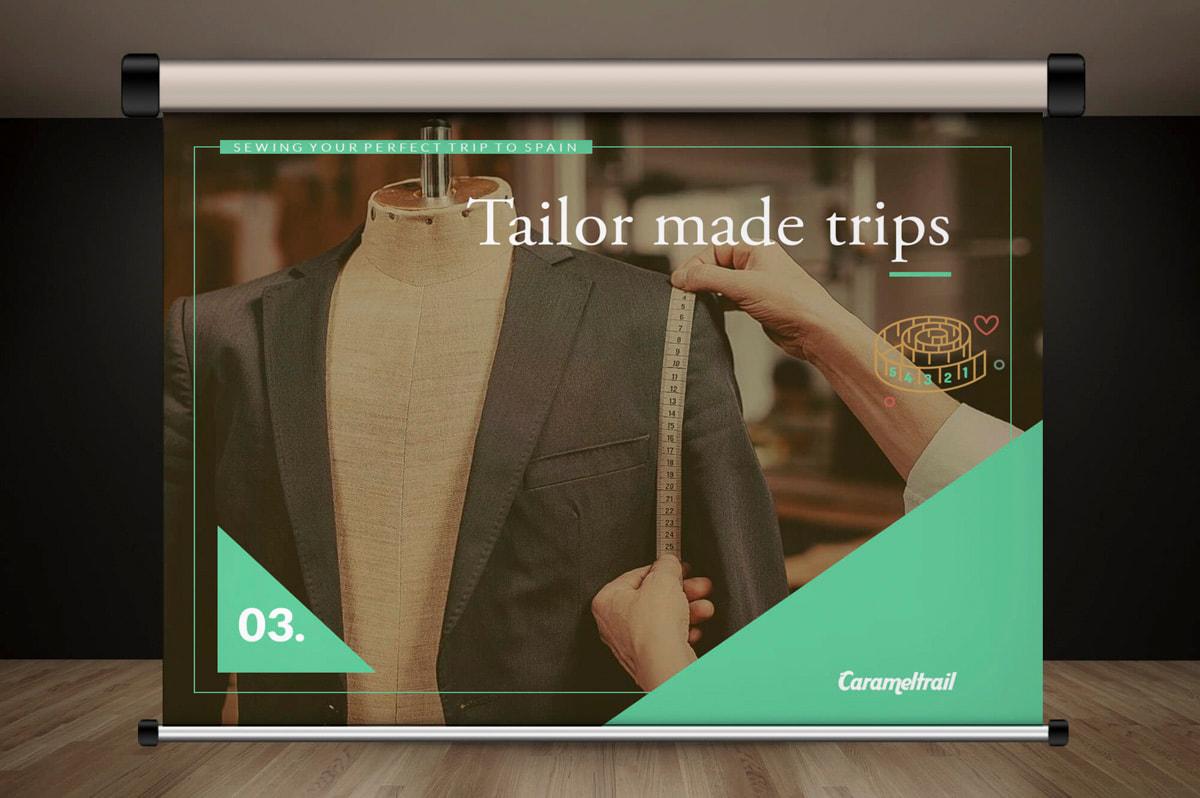 Diseño de presentaciones corporativas para la Agencia de viajes Carameltrail