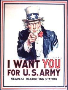 J. Montgomery Flagg - Tío Sam - «I Want YOU for U.S. Army»