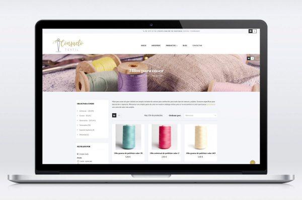 Comercio electrónico para Consuelo Textil - Material Textil y de Bordado
