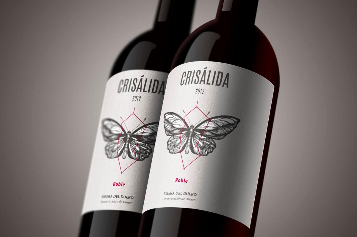 Diseño etiqueta vino - Naming para Crisálida - Vinos