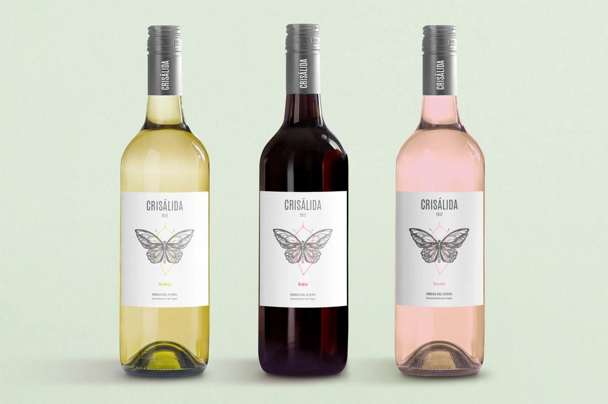 Diseño de etiquetas de productos - Naming para Crisálida - Vinos