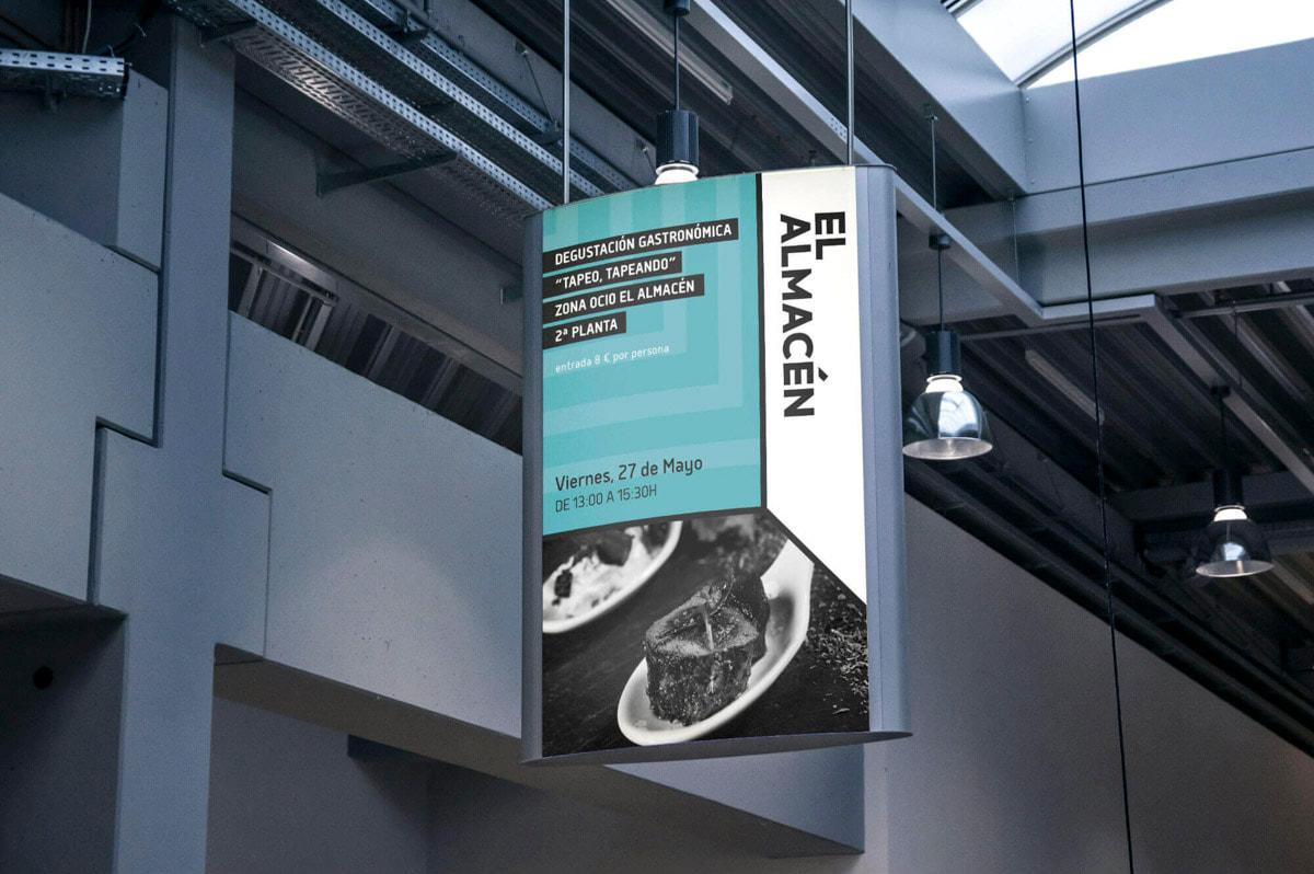 Diseño Gráfico de publicidad - Naming para El Almacén - Mercado gastronómico