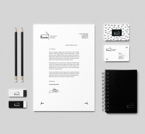 Diseño de papelería corporativa - Naming para El Almacén - Mercado gastronómico