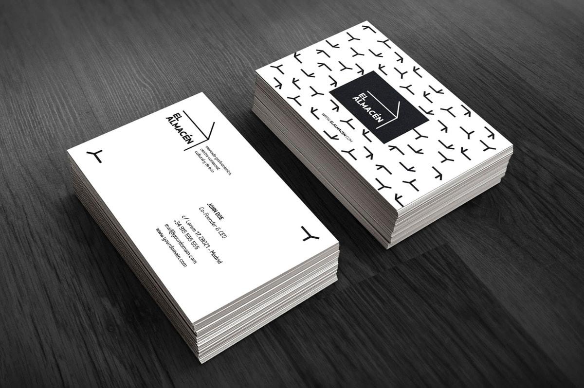 Diseño de tarjetas de visita para centro comercial