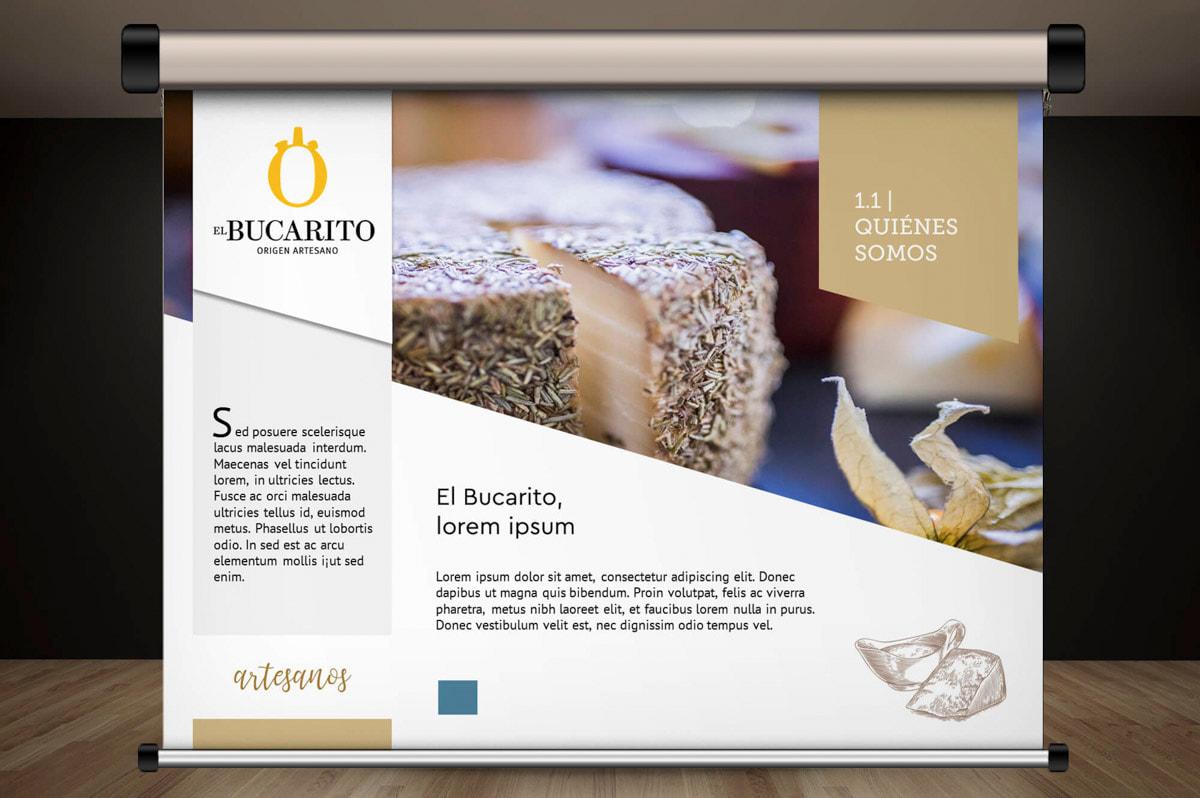 Diseño de presentaciones corporativas para Quesos artesanos y embutidos El Bucarito