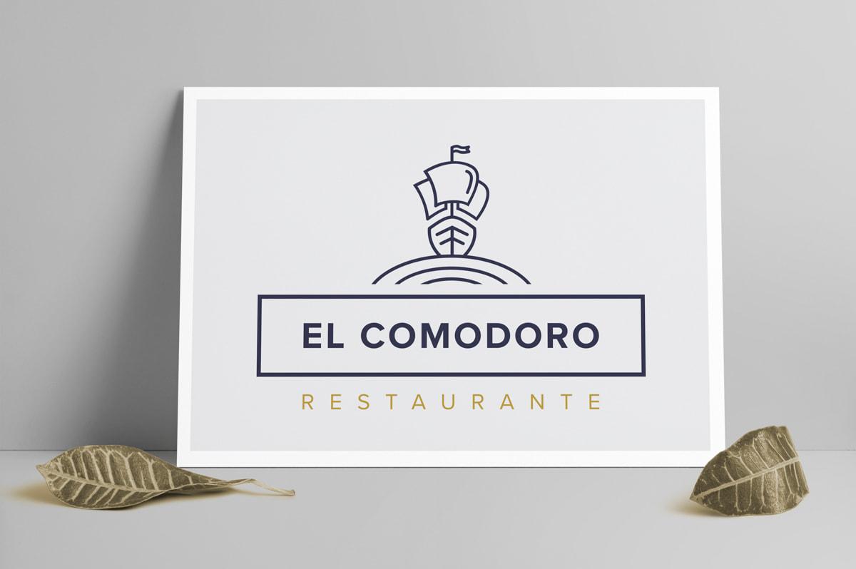 Diseño de cartelería para el Restaurante El Comodoro