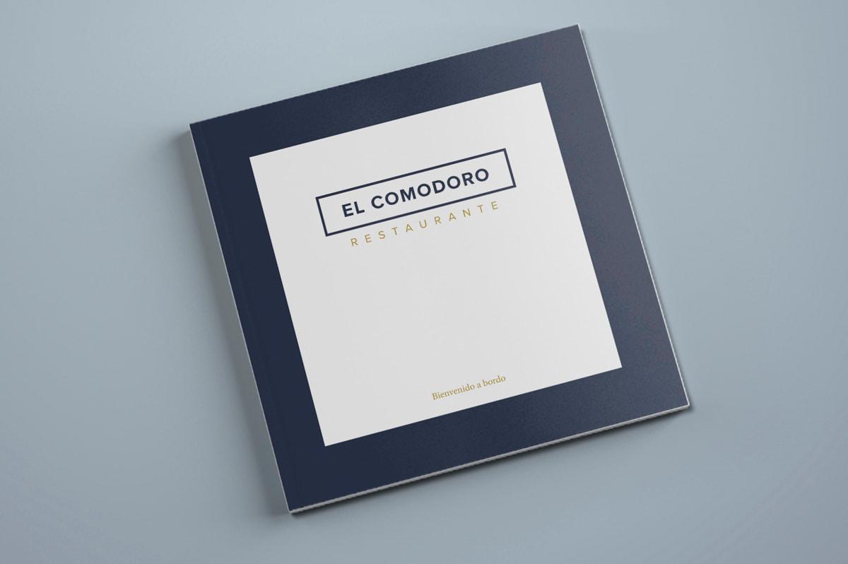 Diseño de cartas para el Restaurante El Comodoro