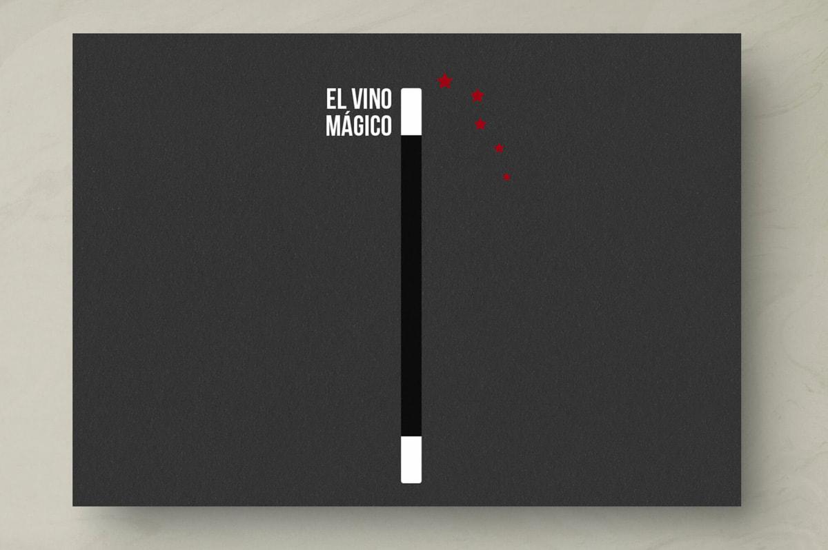 Rebranding - Etiqueta de vino para El Vino Mágico