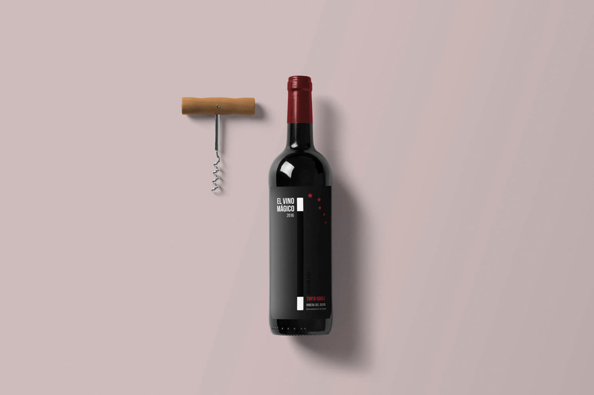 Diseño de etiquetas de vino para El Vino Mágico