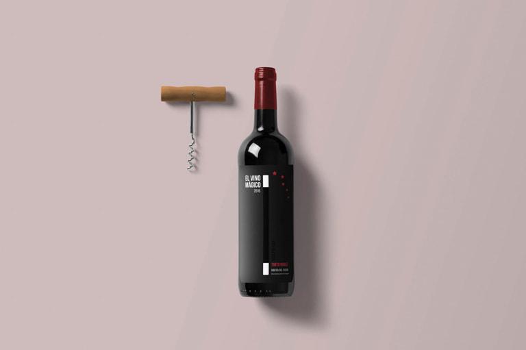 Etiqueta de vino para El Vino Mágico