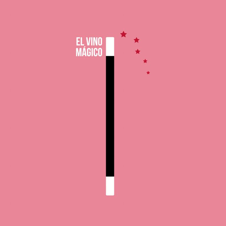 Dirección de arte diseño gráfico - Etiqueta de vino para El Vino Mágico - Vino