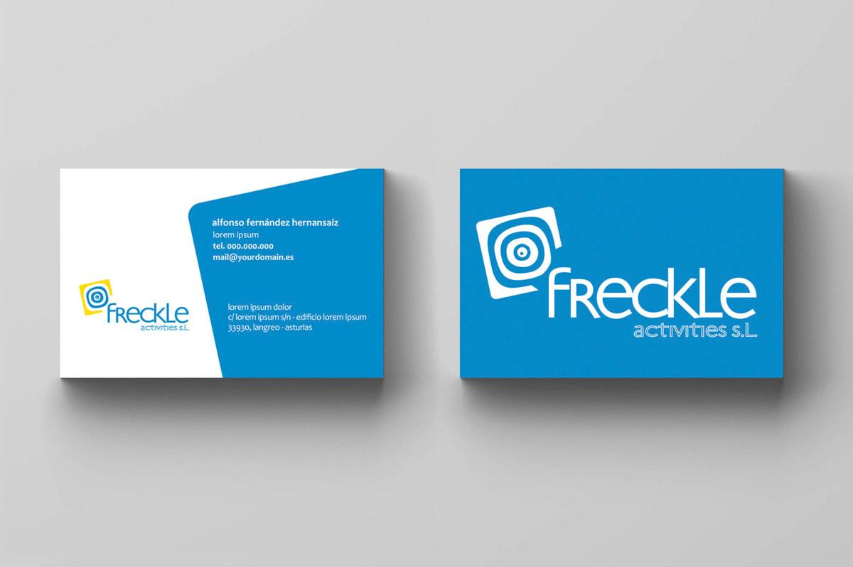 Diseño de tarjetas de visita para Freckle Activities
