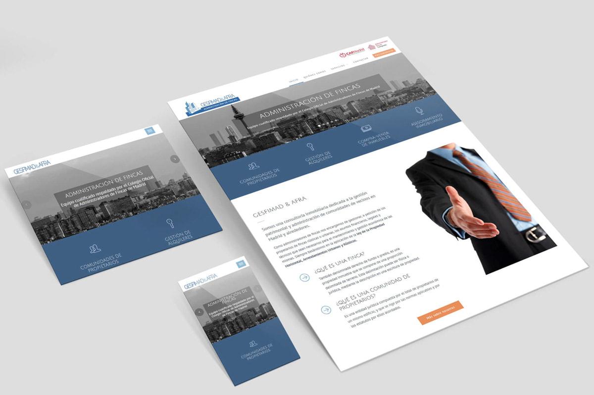 Página web para Gesfimad & Afra - Administración de fincas