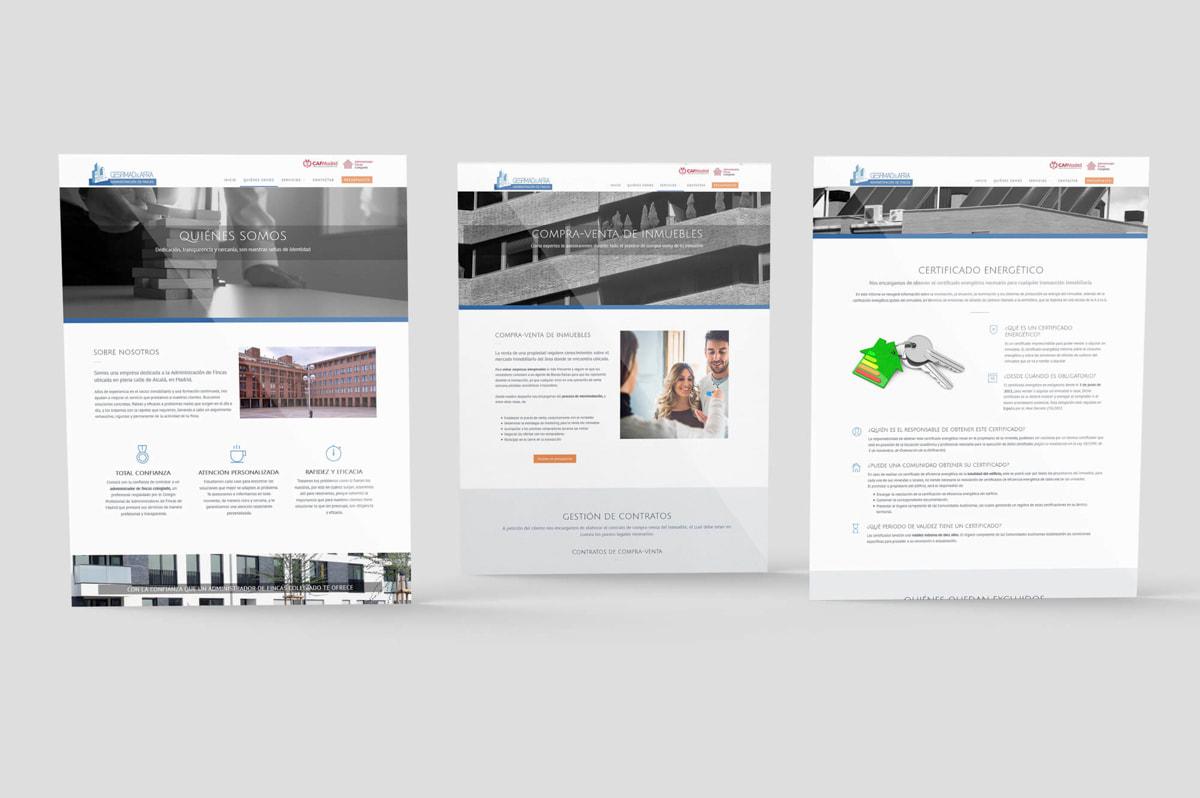 Diseño de página web para empresa de Administración de fincas