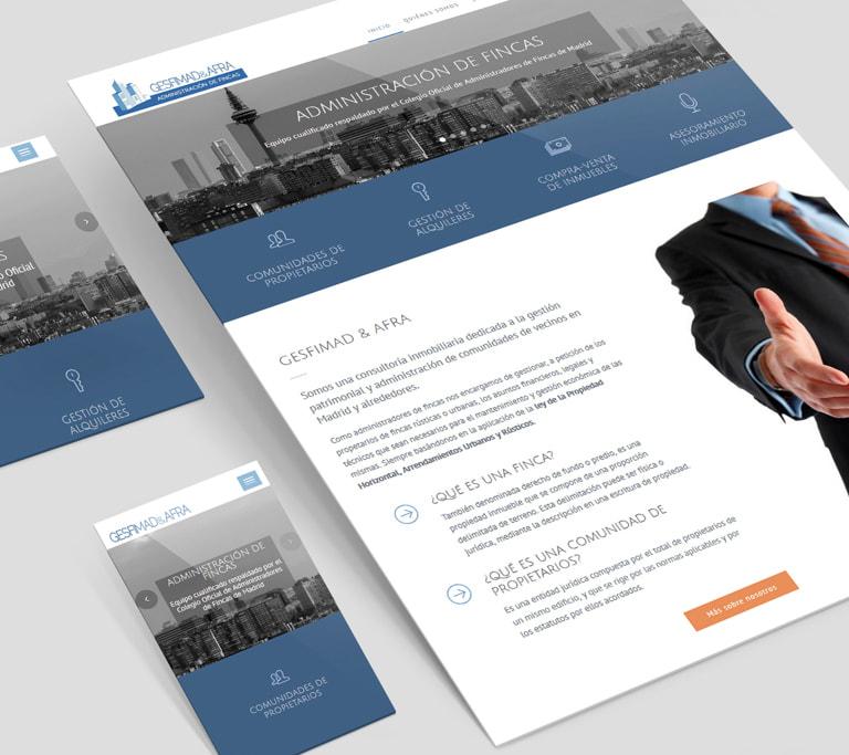 Página web para Gesfimad & Afra