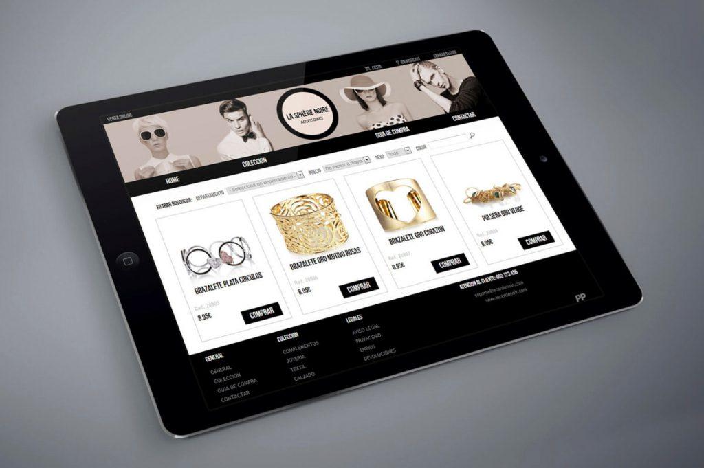 Diseño de tienda online para diseñador de accesorios de moda