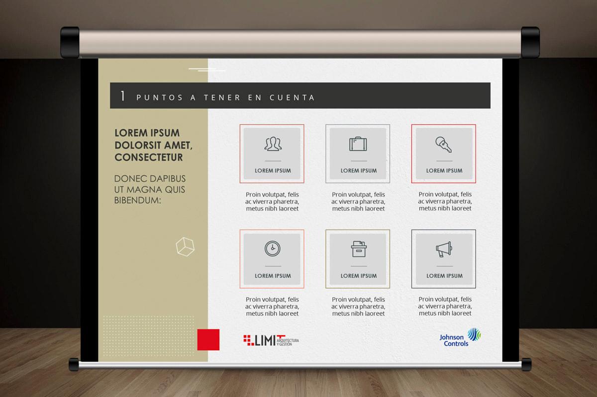 Diseño de Presentación Corporativa para Limit, Arquitectura y gestión