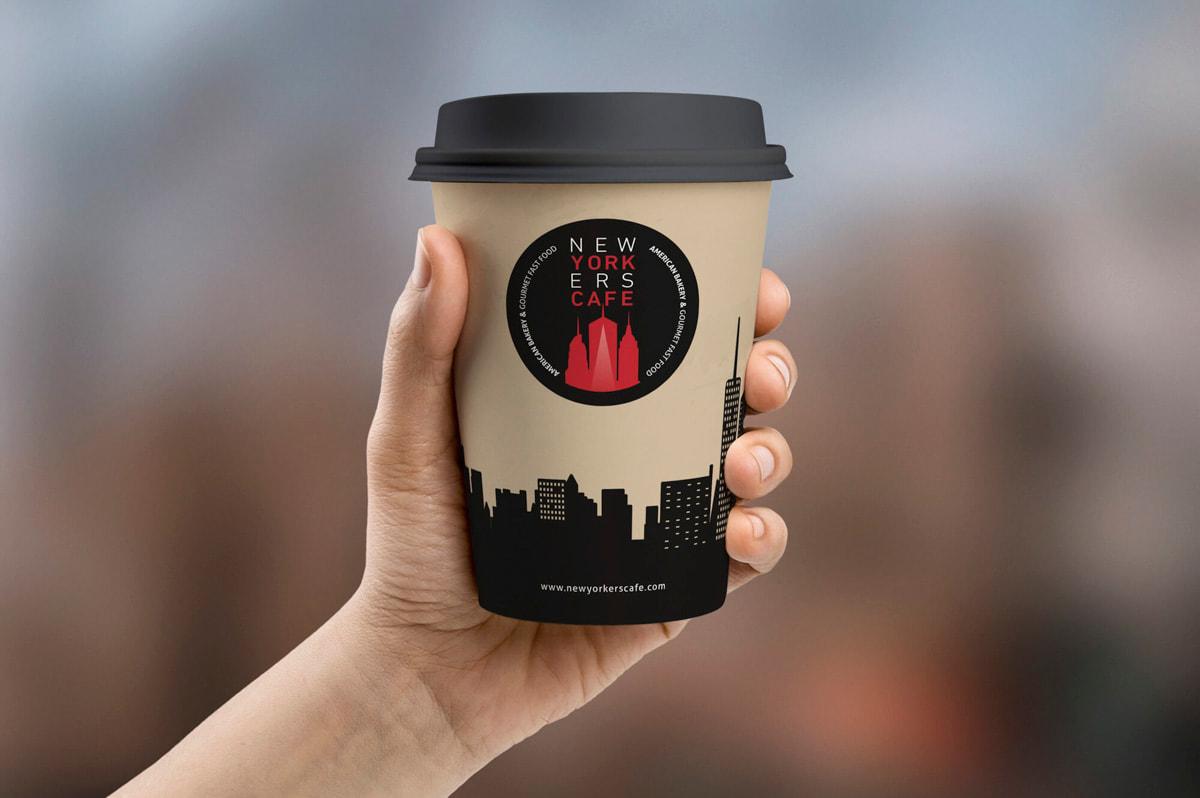 Branding para Newyorkers Café - Cafe-burger americano