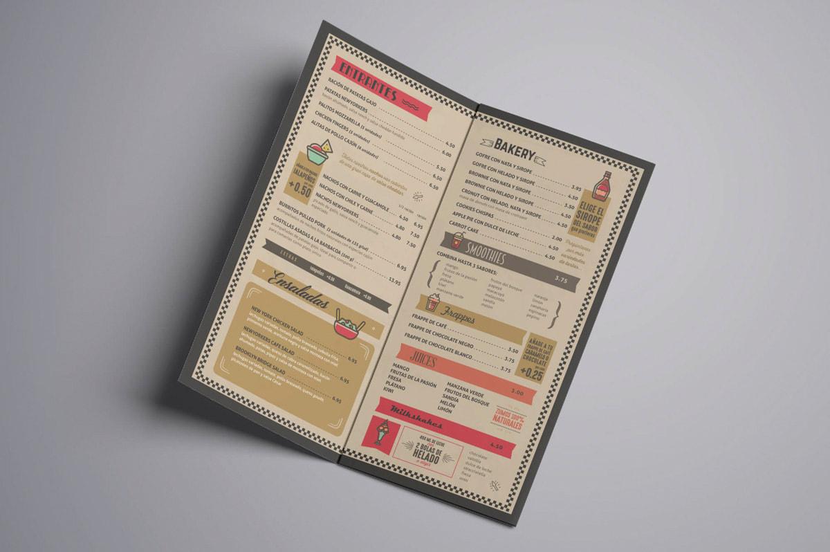 Diseño de carta de restaurante