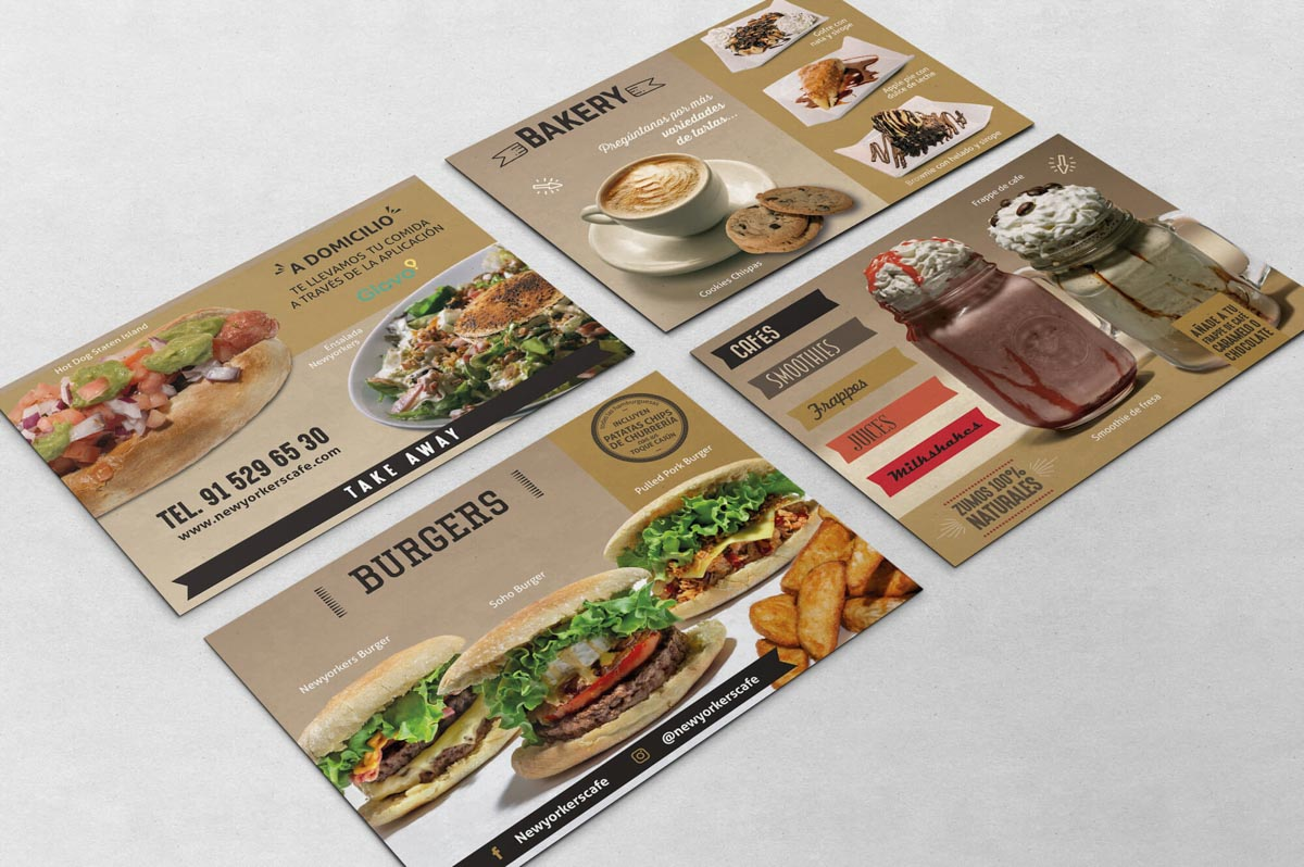 Diseño de carta para Burger
