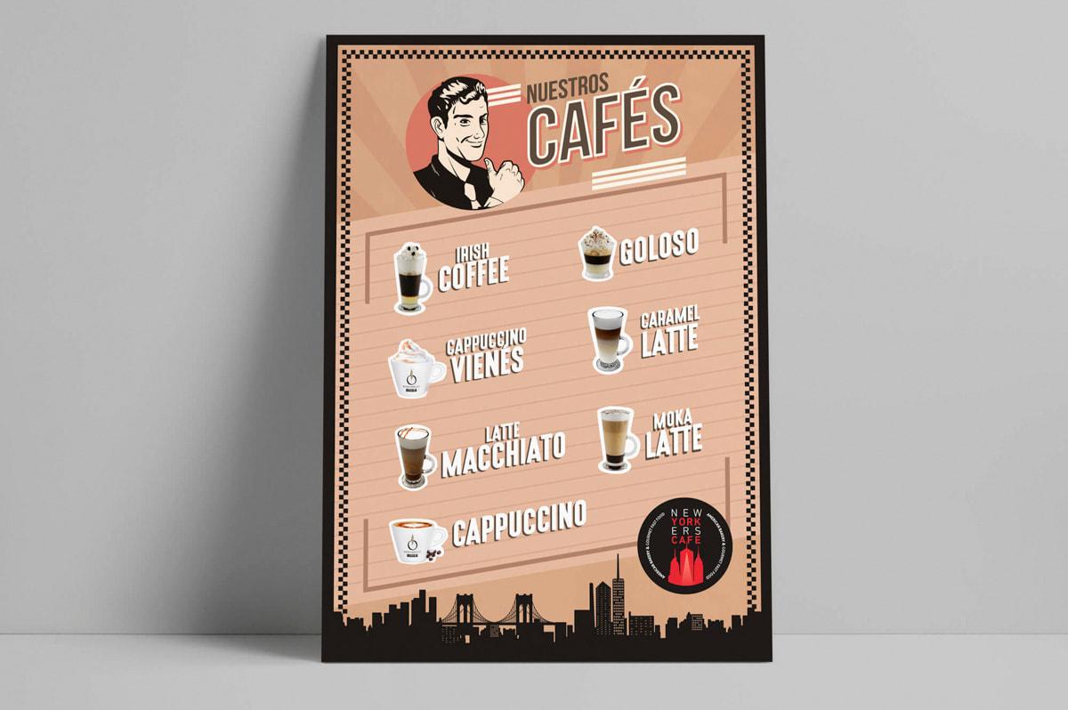Diseño de carteles publicitarios para Burger