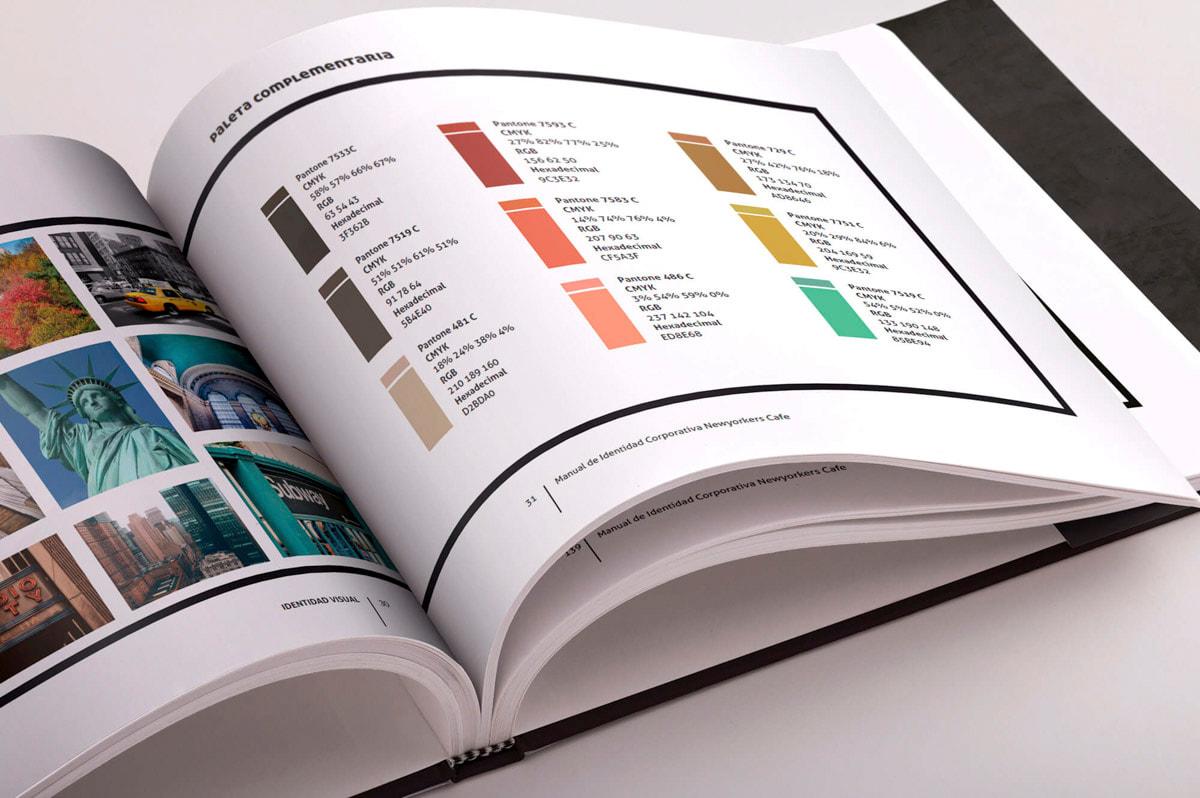 Diseño de manual de identidad corporativa para cafetería-restaurante