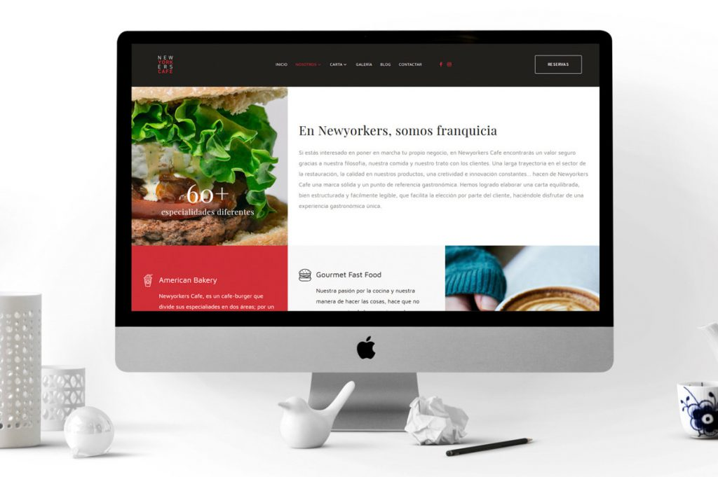 Creación web - Branding para Newyorkers Café - Cafe-burger americano
