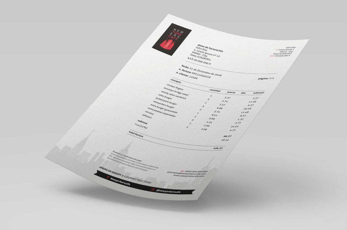 Diseño de papelería corporativa para cafetería-restaurante