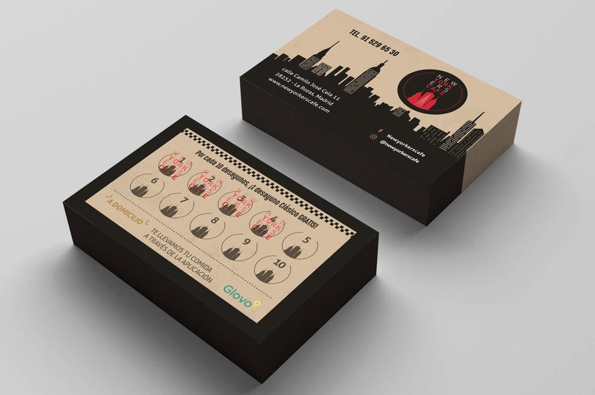Diseño de tarjetas para cafetería