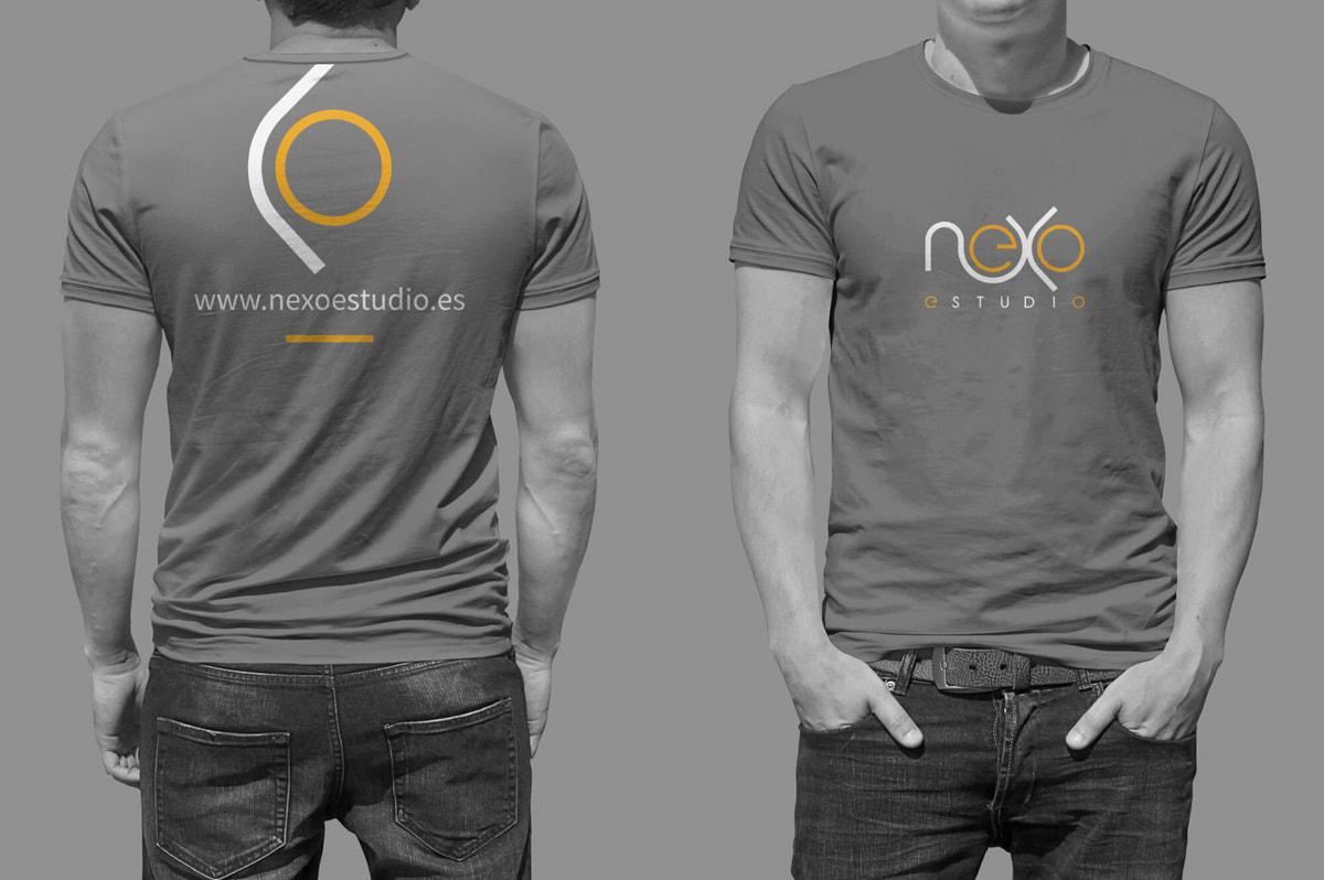 Diseño de camisetas corporativas para empresa de Proyectos y obras