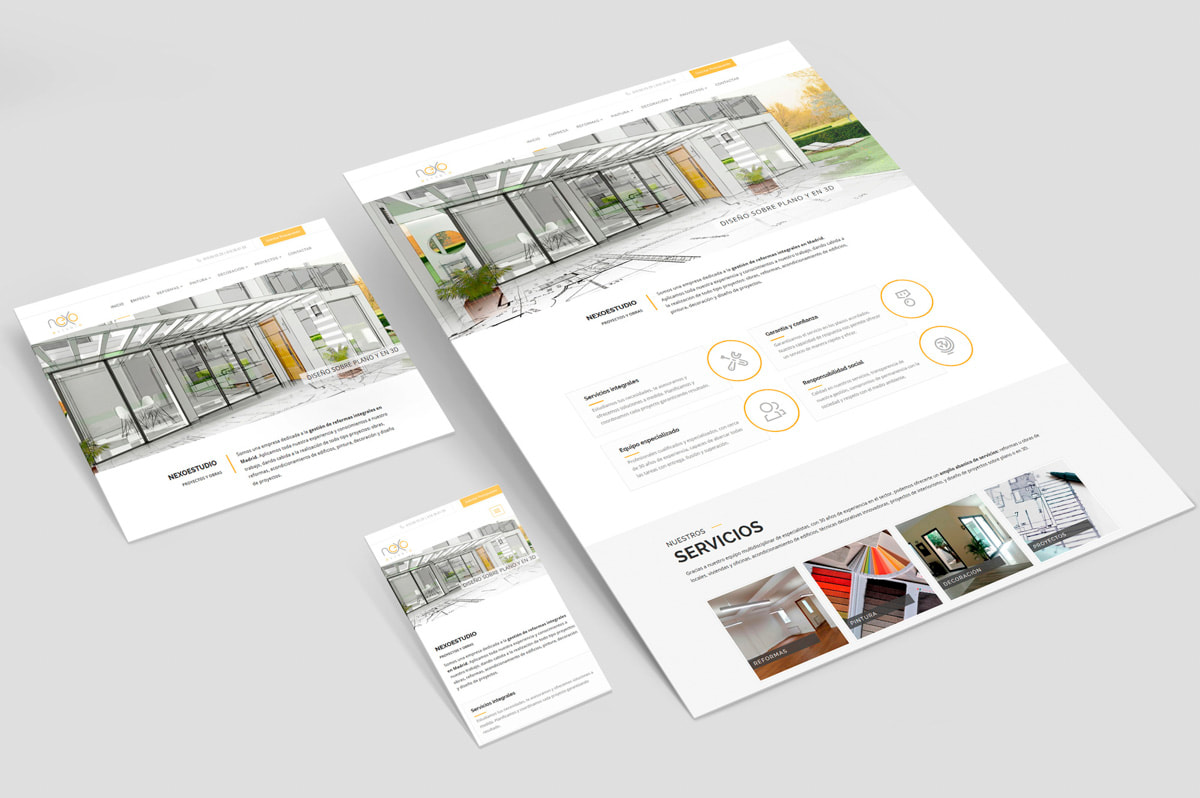 Diseñadora web - Página web para Nexoestudio - Proyectos y obras