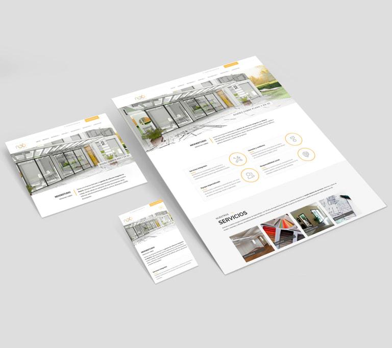 Diseño de Páginas web profesionales para Nexoestudio, Proyectos y obras