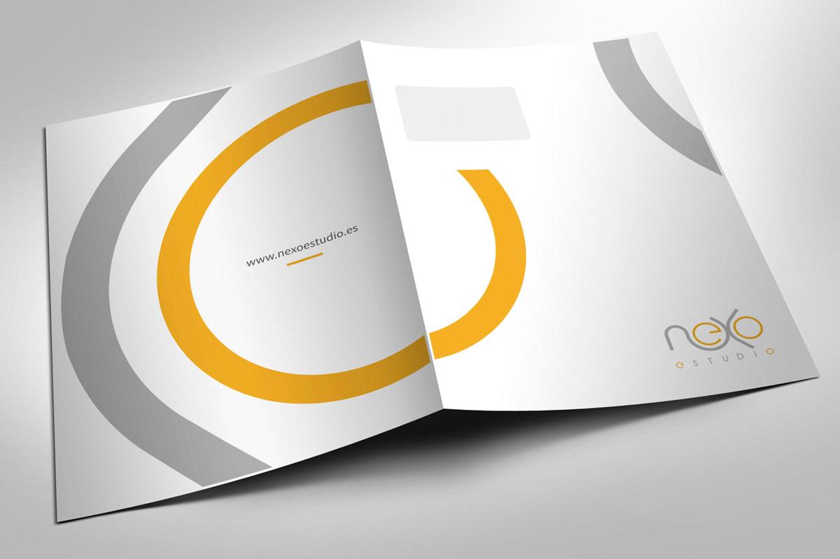 Diseño de carpetas corporativas para empresa de Proyectos y obras