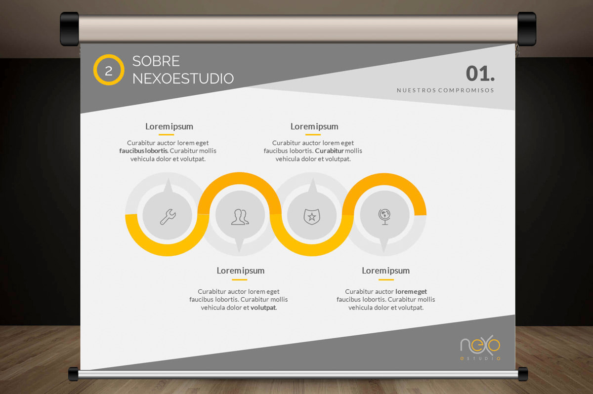 Diseño de la comunicación visual - Página web para Nexoestudio - Proyectos y obras