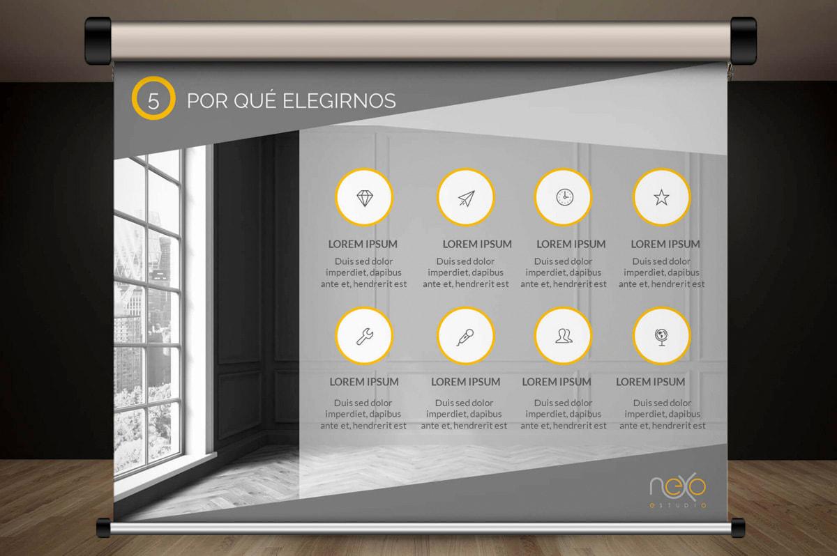Diseño Gráfico y comunicación visual - Página web para Nexoestudio - Proyectos y obras