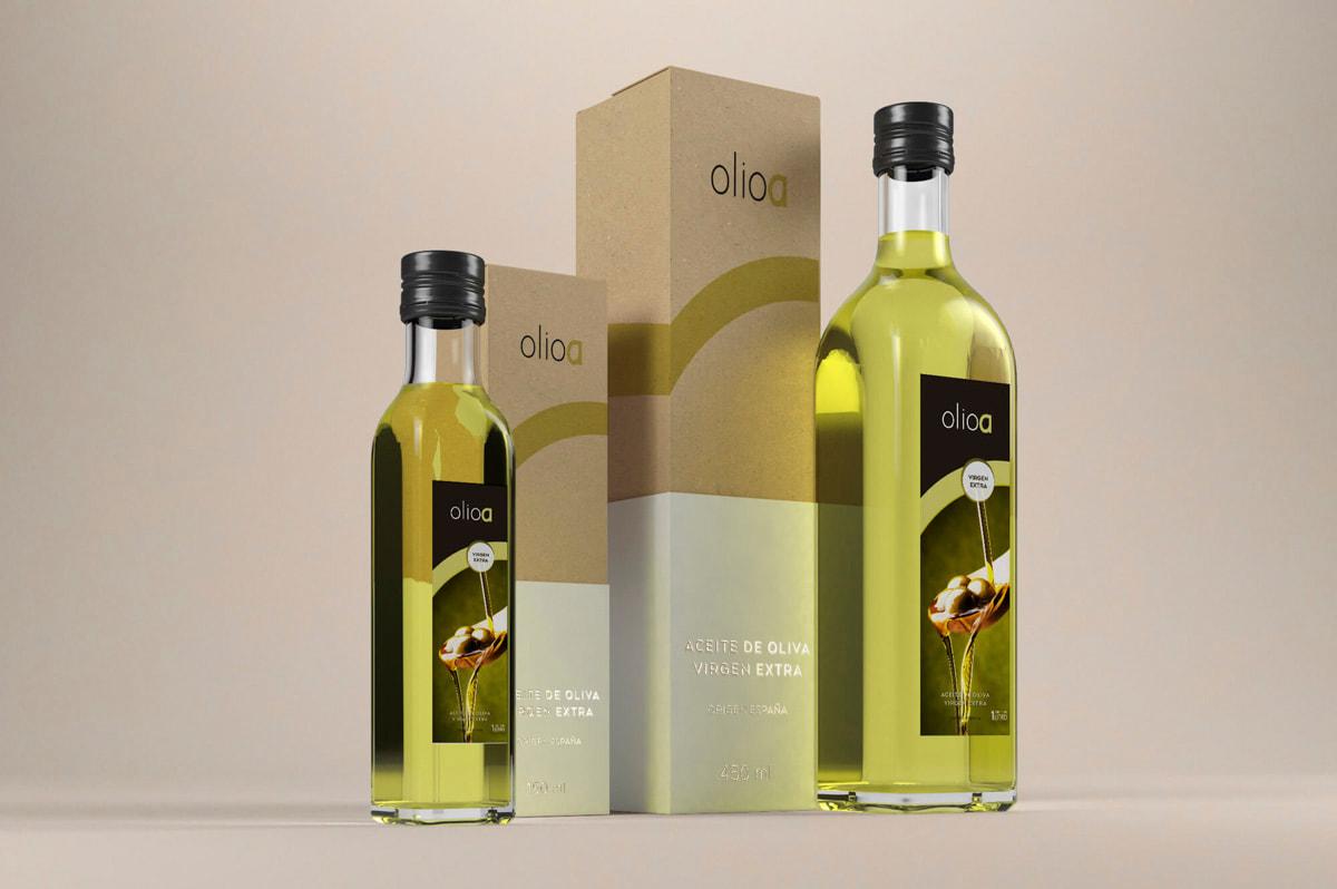 Packaging de diseño - Naming para Olioa - Aceites