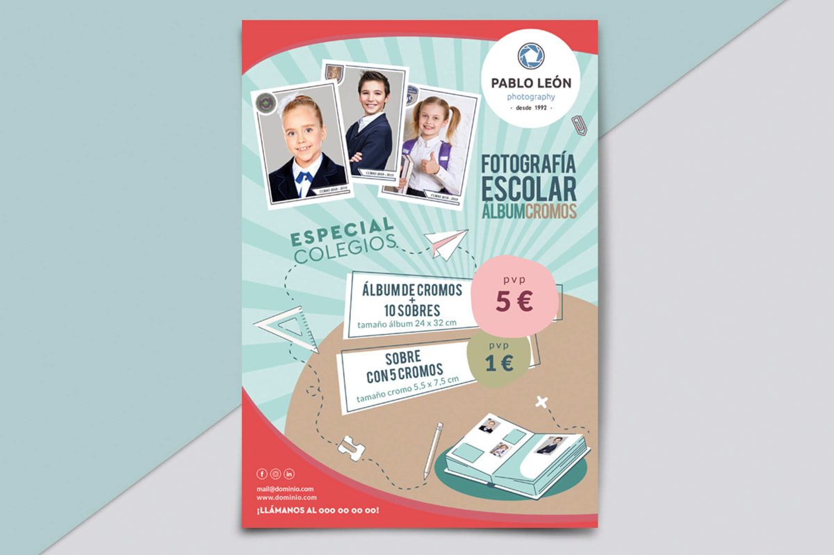 Diseño de flyer precio - Comunicación Gráfica para Pablo León - Fotografía