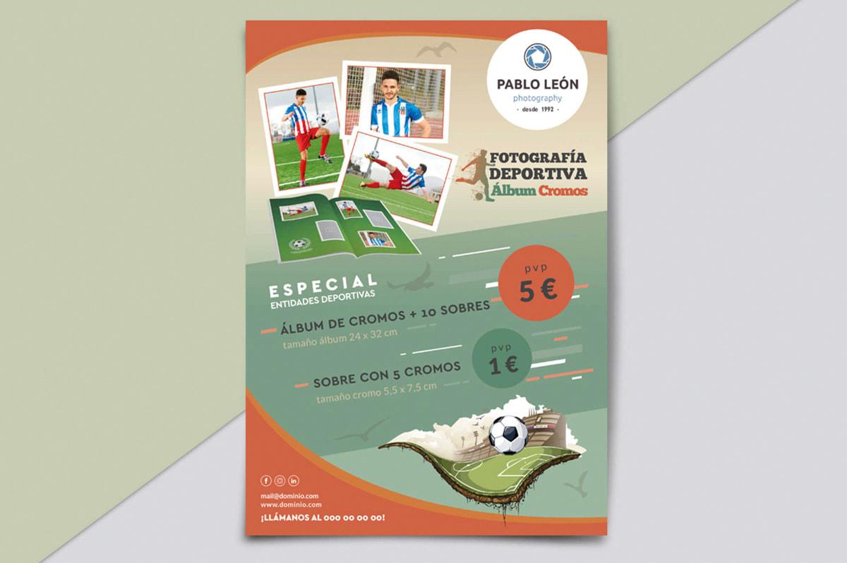Diseño de folletos y flyers publicitarios - Comunicación Gráfica para Pablo León - Fotografía